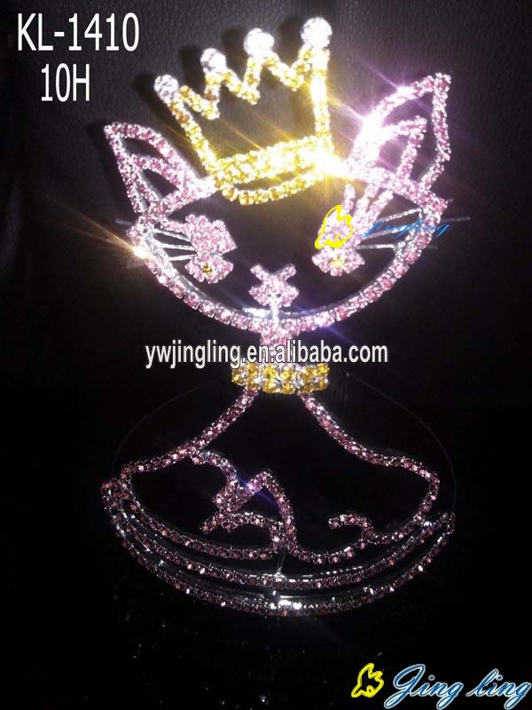 Pageant Crown charm fox shape