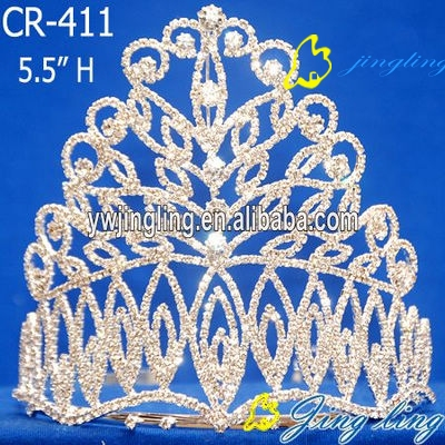 specal design clear rhinestone crown pageant tiara