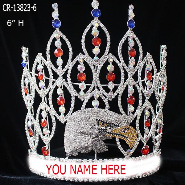 Custom Rhinestone Eagle Pageant Crown
