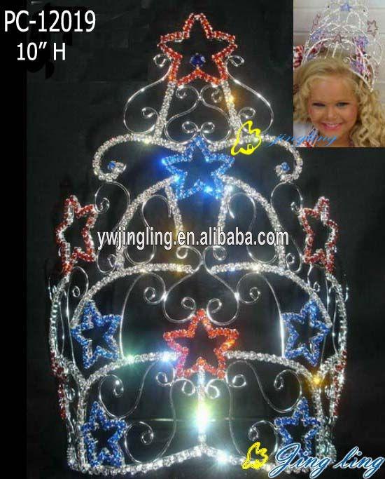 Large custom colored patriotic crown star