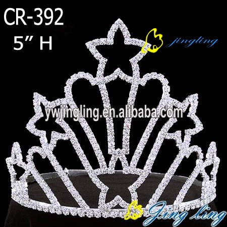 Patriotic Crown rhinestone crowns with stars
