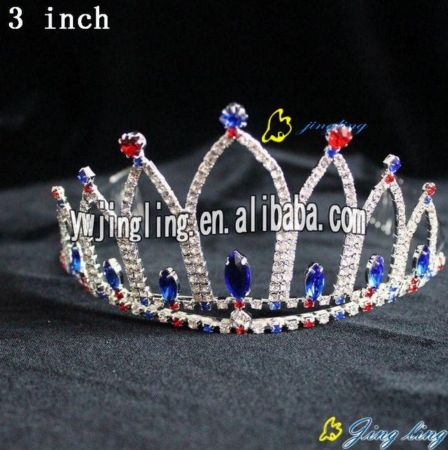 charm colorful crystal patriotic crown