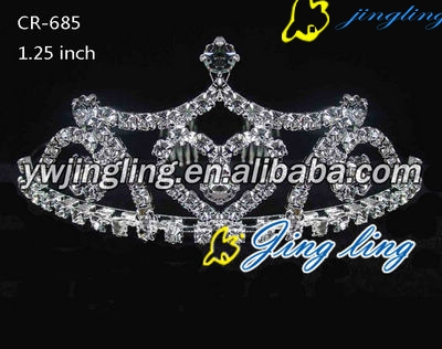 heart shape crown pageant crown tiara CR-685