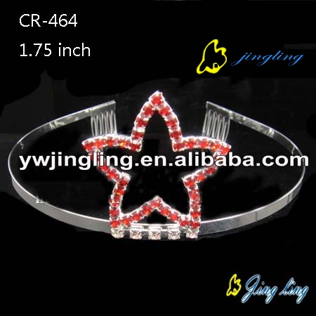 Pageant Crown Red color crystal