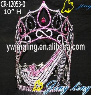 crown colorful crystal high heels