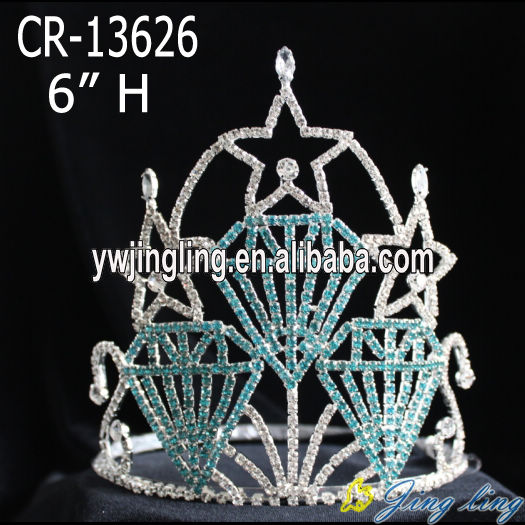Diamond shape star pageant crowns