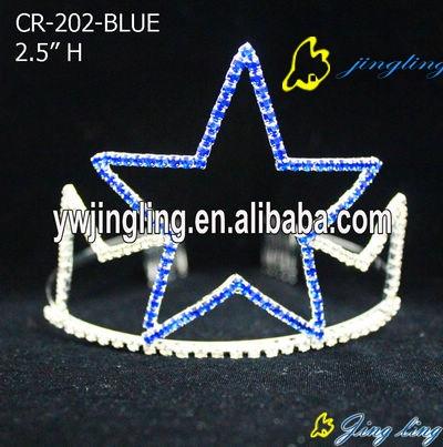 big blue one star patriotic crown