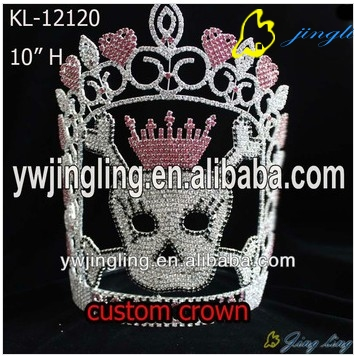 special skull shape pageant crown