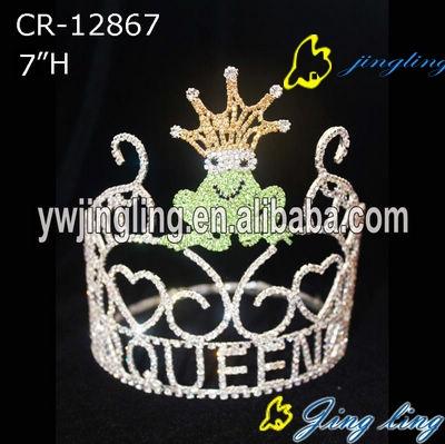 valentine rhinestone frog tiara pageant crown