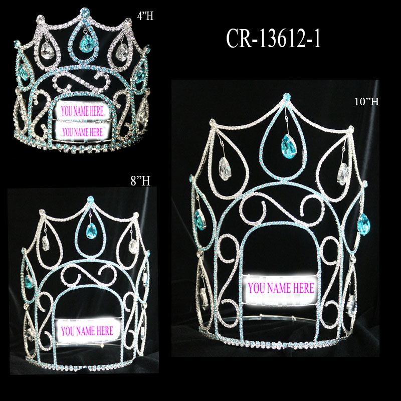 Simple Cheap Rhinestone Custom Crown