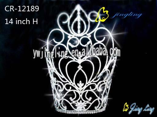 large tiara sweet heart cheap pageant crown