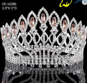 Full Round Color Stone Queen Pageant Crown