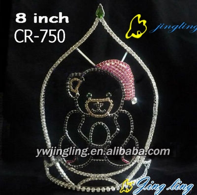 bear with hat crystal animal crown