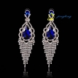 2015 Noble Temperament Crystal Earrings Fantasy Land Woman Long Crystal Earrings