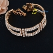 Fashion Luxury Austrian Crystal Bracelets & Bangles Silver/Gold Plated Charm Bracelets For Women