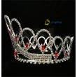 Red Stones Full Round Pageant Crowns