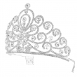 2018 Bridal Bling Hair Accessories Lucky Tiara Silver Plated Custom Pageant Crown