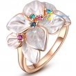New fashion 18K Rose Gold Plated Finger Ring for Women