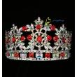 3 Inch AB Rhinestone Round Tiara For Parenting Hair Crown