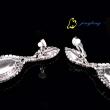 Long Earring Rhinestone Jewelry Earring Silver And Golden Fashion Design