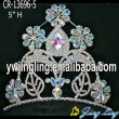 Flower fleur de lis AB stone pageant tiaras and crowns