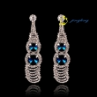 2015 High-grade temperament earrings Exaggerated the gourd rhinestones earrings