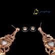 Dangle Earrings Rhinestone Earrings Leaf Design Fashion Earrings Rhinestone And Copper Materials Top
