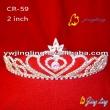 sweet heart patriotic crystal tiara