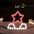 red star shaped tiaras crowns