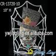 Custom Net Rhinestone Halloween Ghost Pageant Crowns For Sale