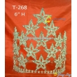 Patriotic 8 Inch Big Size Pageant Crown
