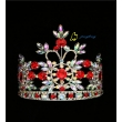 6 Inch Ruby AB Colored Diamond Round Crown
