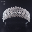 2017 New Design Fashion Leaves Semi-circular Crystal Crown