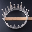 Simple and Stylish Full Round Rhinestone Pageant Crown