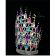 large colored teal pageant crowns