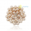 New Arrival Stunning White Pearl Brooches Wedding Party Crystal Pin Brooch for women's jewelry