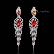 2015 Fashion Jewelry Dangle Earrings Rhinestone And Copper Materials Chandelier Earrings For Women