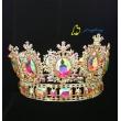 Full AB Stone Round Rhinestone Stone Hair Tiara Crown For Queen