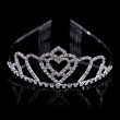 2016 Silver Crystal Heart Wedding Crown And Tiaras