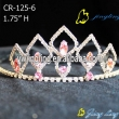 pink color Rhinestone Pageant Crowns