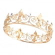 2017 Full Round Gold Alloy Beauty Crown