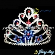 fashion rhinestone sapphire star crown pageant tiara