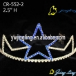 Only one star in blue color patriotic crown