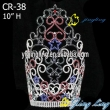 Large colored star tiara patriotic rhinestone pageant crown