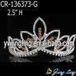 Wholesale gold  rhinestone cheap wedding pageant crowns