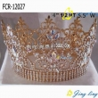 Full Round Crown Gold Pageant Crowns