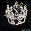 Red crystal full round crown