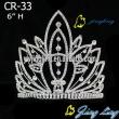 heart and flower crown rhinestone beauty tiara