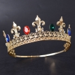 Gold Metal flower-de-luce tiara Flowe Tiara And Crowns