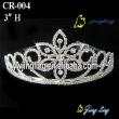 Bridal flower crystal crown